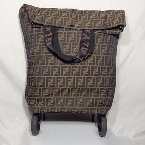 Fendi Vintage Rolling Suitcase